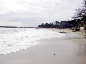 Golden Sands Beach, Varna in winter